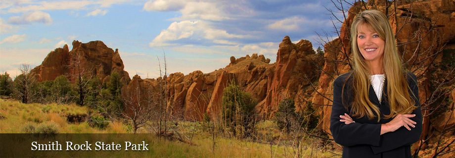 Smith Rock State Park near Redmond Oregon and Highway 97 in Deschutes County by Pam Lester Principal Broker Century 21 Gold Country Realty