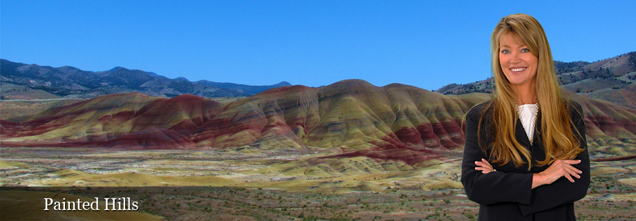 Painted Hills John Day Fossil Beds National Monument near Ochoco Highway 26 in Central Oregon by Pam Lester Century 21 Gold Country Realty