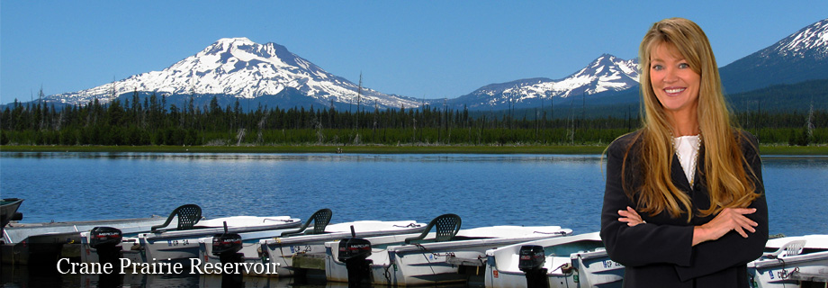 Crane Prairie Reservoir, Deschutes National Forest next to County Highway 46 in Central Oregon by Pam Lester Vacation Homes Investments